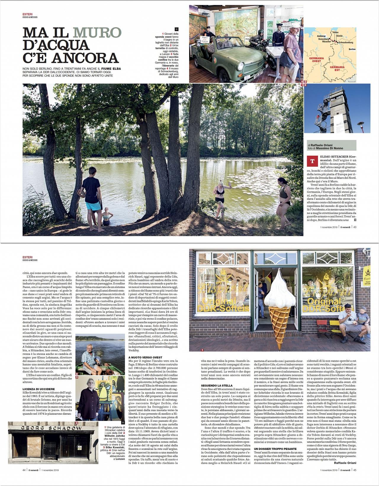 Ma il muro d'acqua c'è ancora - On Il Venerdì weekly magazine of La Repubblica (2019)