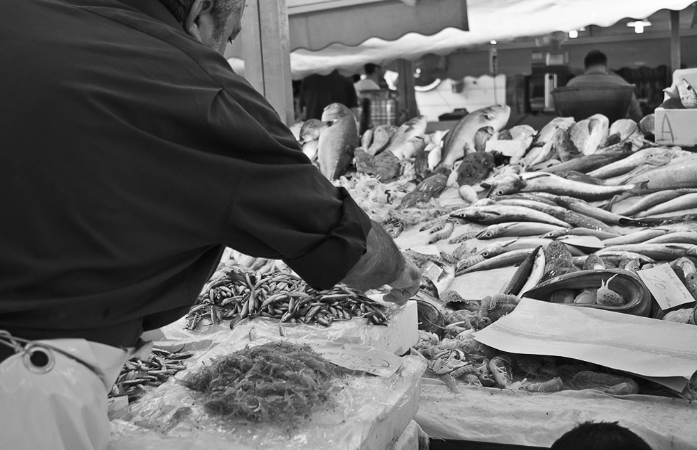 La pesceria di Catania: People and fish