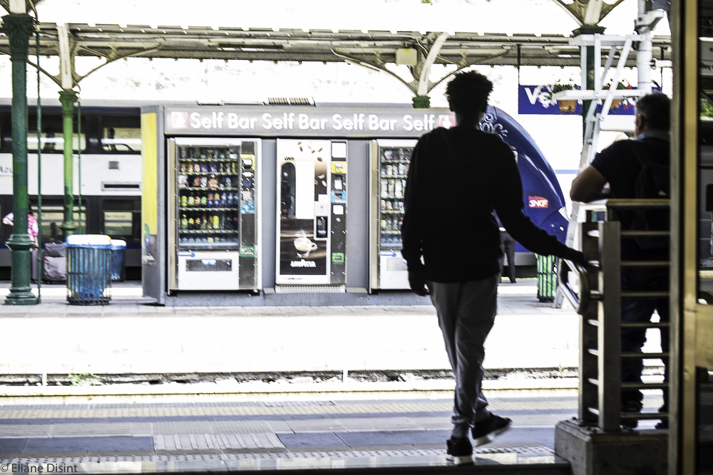 Ventimiglia, Italy - Waiting for a train to Nice, France