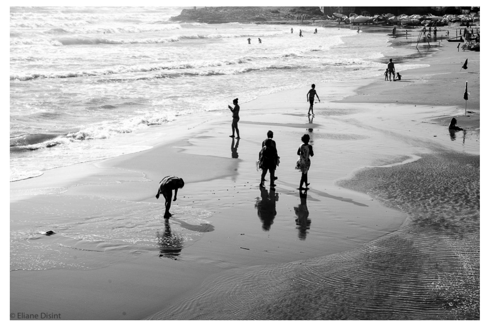 Silouhettes on the beach, Bruca, Scicli
